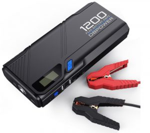 DBPOWER 1200A Peak Portable Car Jump Starter (for 6.5L Gas, 5.2L Die
