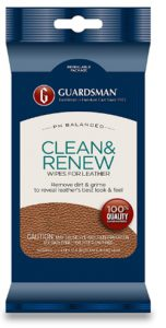 Guardsman Clean & Renew Leather Wipes - 20 Count - Removes Dirt & Grime, Great F