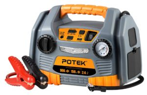 POTEK Jump Starter Source with 150 PSI Tire Inflator_Air compressor,