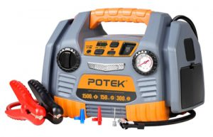 POTEK Portable Power Source_ 1500 Peak_750 Instant Amps Jump Starter