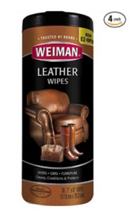 Weiman Leather Wipes - Clean and Condition Car Seats, Shoes, Couches