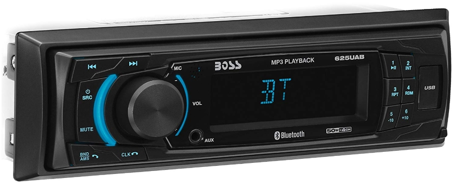 BOSS Audio 625UAB Multimedia Car Stereo – Single Din, MP3 Player (No CD/DVD Player), USB Port, AUX Input, AM/FM Radio Receiver
