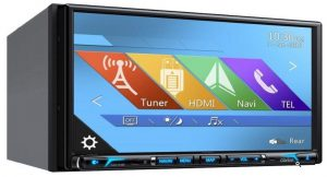 Clarion NX706 2-DIN DVD Multimedia Station with Built-in Navigation,