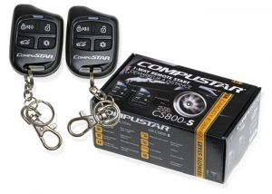 Compustar CS800-S 1-Way Remote Start with 2 4-Button Remotes 1000 Fe