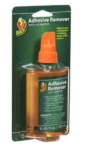 Duck Brand 527263 Adhesive Remover 5.45-Ounce Bottle with Scraper Cap