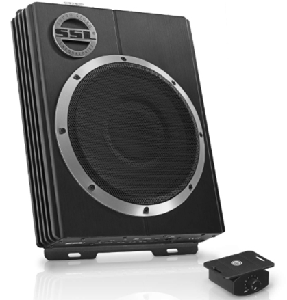 Sound Storm LOPRO10 Amplified Car Subwoofer - 1200 Watts Max Power, Low Profile, 10 Inch Subwoofer, Remote Subwoofer Control, Great For Vehicles That Need